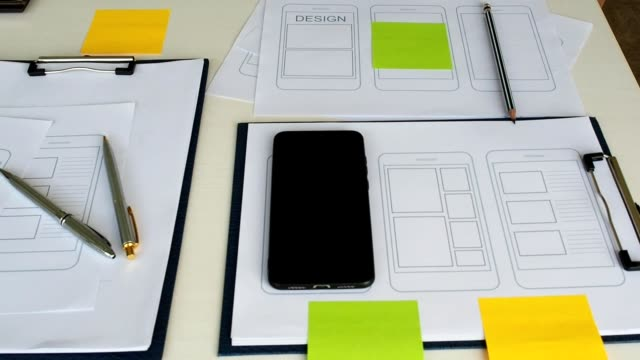 UX or UI design application development for web smart phone . UI or UX design concept.