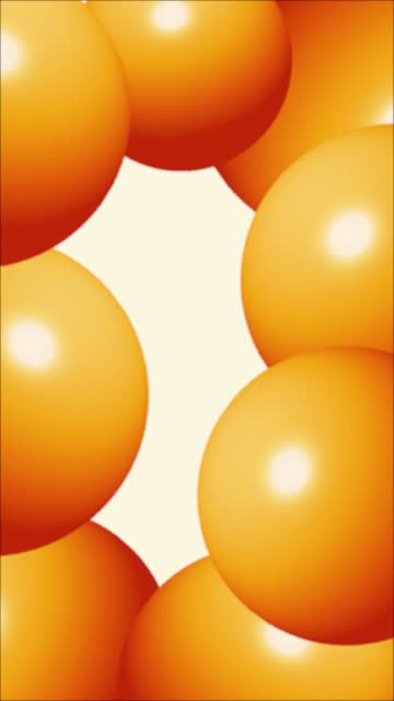 Orange Abstract Sphere Balloons or Balls Wiggle Funny Background Stock Video
