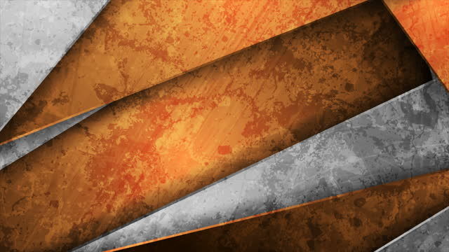 Orange and grey grunge abstract tech corporate motion background