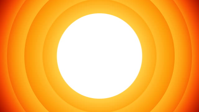 Orange animated circular shapes on white background that will allow you to add any image or video.