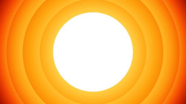 Orange animierte kreisförmige Formen auf weißem Hintergrund, mit denen Sie ein beliebiges Bild oder Video hinzufügen können. – Video