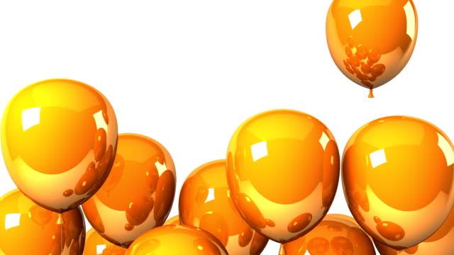 Orange Balloons On White Background video
