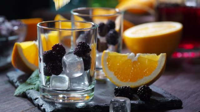 Orange blackberry punch