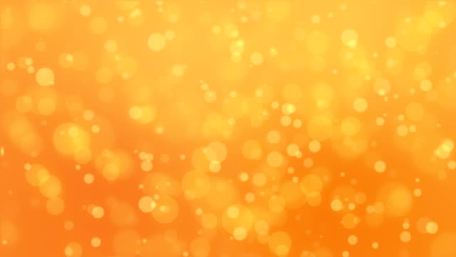 Orange bokeh lights background video
