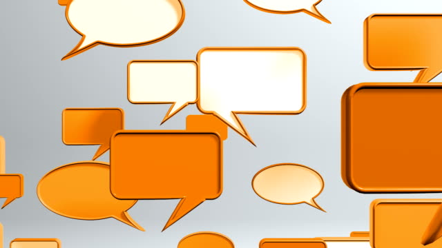 vídeos y material grabado en eventos de stock de conversación iconos de orange - speech bubble