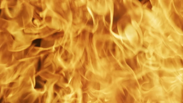 Orange Flames of a Fire