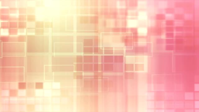 Orange Glowing Blocks Loop 16-bit video