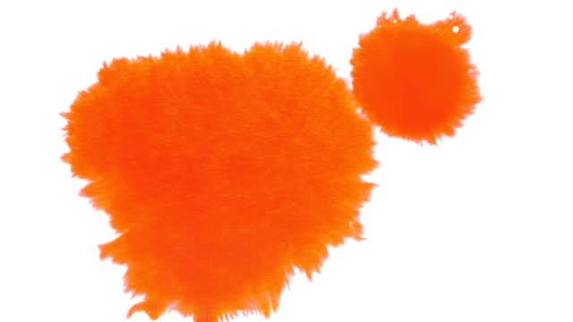 Orange Ink Splatter video