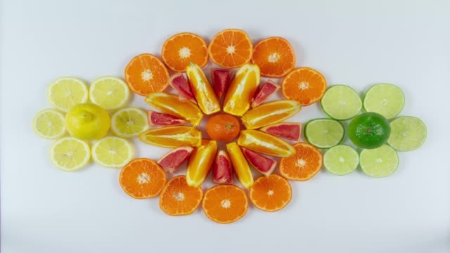 Orange Juice and Citrus Fruits Stop Motion