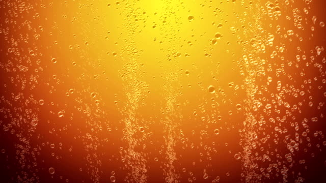 Orange juice bubbles background video