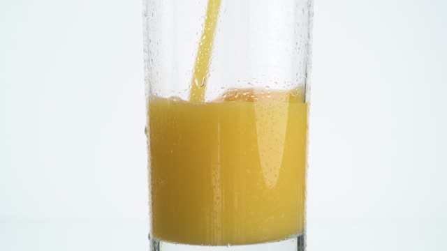 Orange juice vertical for video