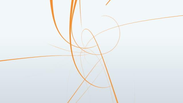オレンジライン hd 1080 ループ - 線点の映像素材/bロール