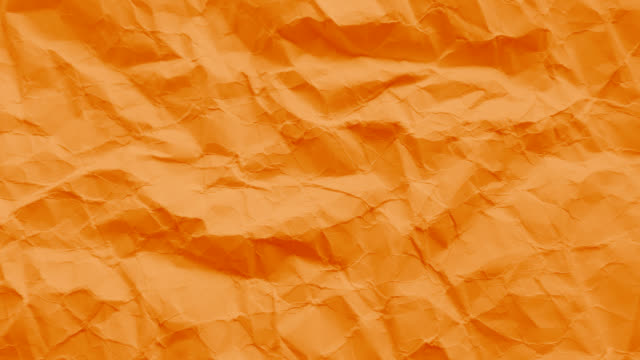 Orange paper texture wrinkled video