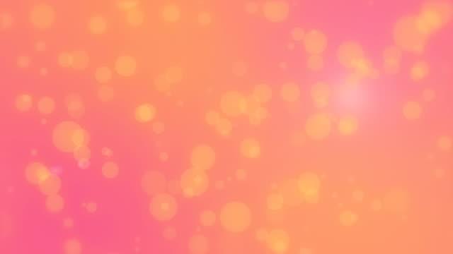 Orange pink bokeh background video