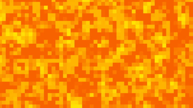 Orange Pixels Background Loop video