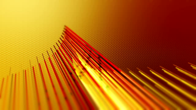 Orange red lines background video loop animation