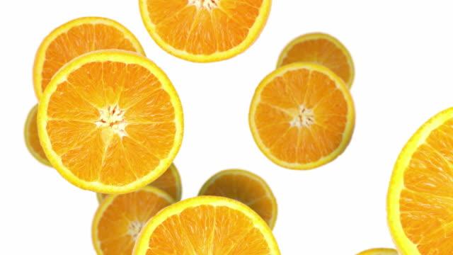 orange slices - apelsin bildbanksvideor och videomaterial från bakom kulisserna