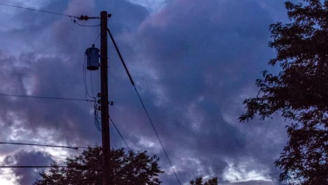 Orange Suburban Sunset - Time Lapse video