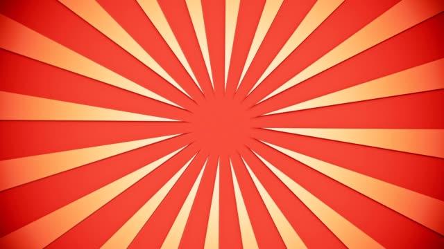 sunburst em laranja claro a laranja - vídeo