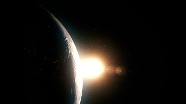 orange Sunrise over earth video