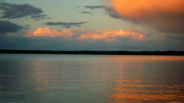 vidéos et rushes de orange coucher de soleil - sky
