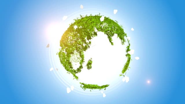 orbitare globo di erba forma - sustainability video stock e b–roll