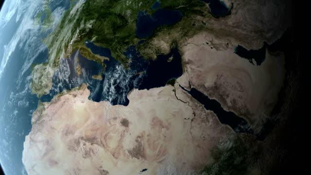 Orbiting over Africa video