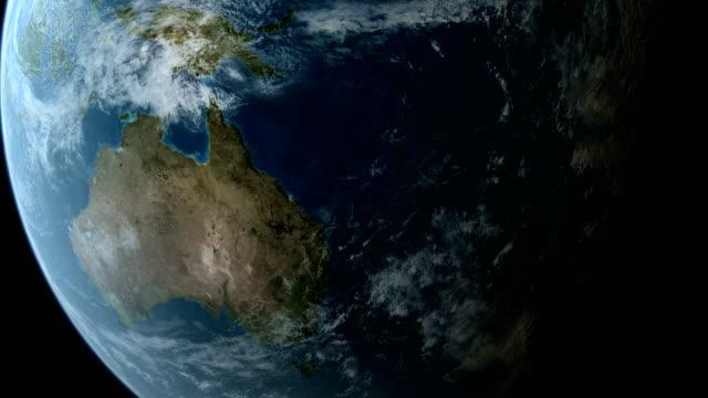 Orbiting over Australia and New Zealand 4K video