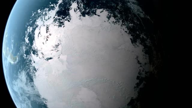 Im Orbit über Südpol – Video