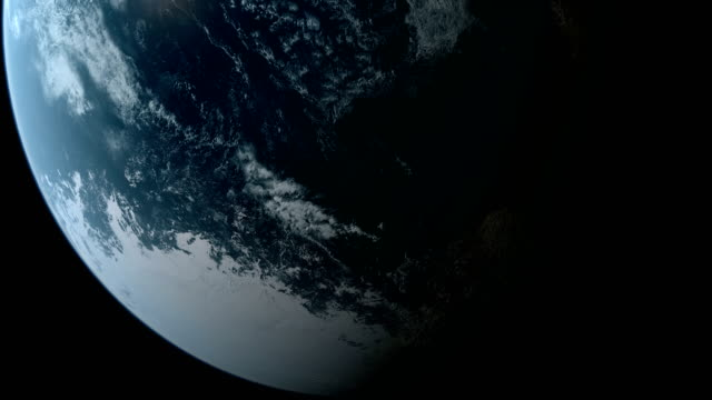 Orbiting over South Pole video