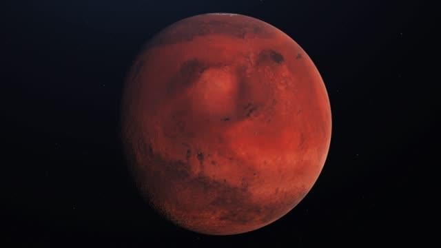 kretsande planeten mars. 4k cg-animering av hög kvalitet - mars bildbanksvideor och videomaterial från bakom kulisserna
