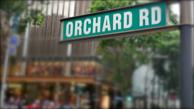 orchard sign Business District at Orchard Road in Singapore video