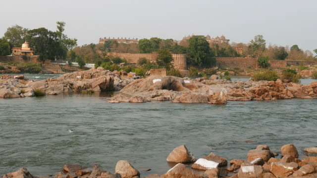 Orchha Palace, Madhya Pradesh, famous travel destination in India. video