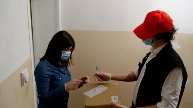 ordering online during corona virus pandemic video