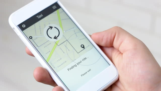 Ordering taxi ride using smartphone application video