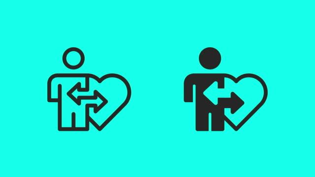 Organ Donation Icons - Vector Animate