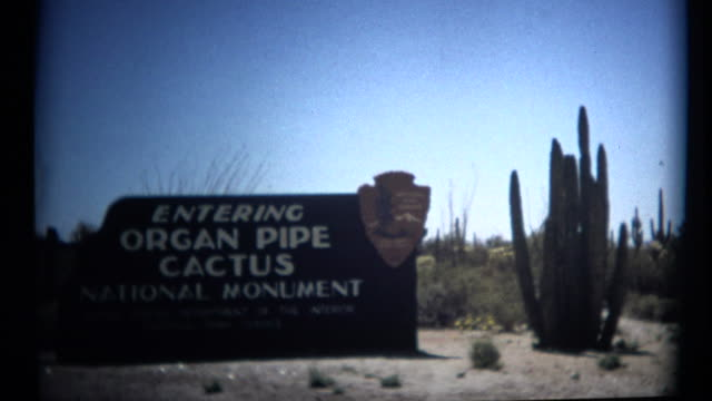 (1960's 8mm Vintage) Organ Pipe Cactus National Monument video