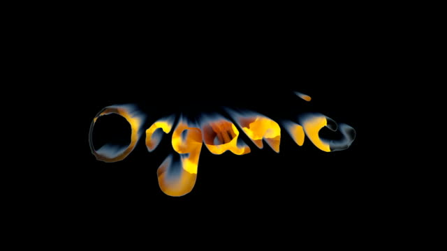 'Organic' - Five variations of the word in motion video