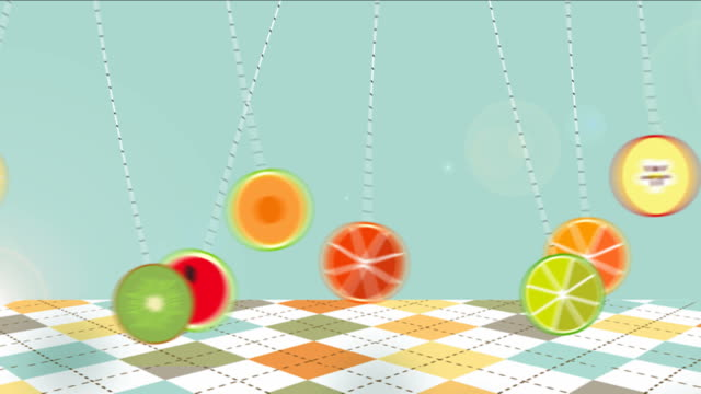 le etichette di alimenti biologici ed elementi animati. - icona posate video stock e b–roll