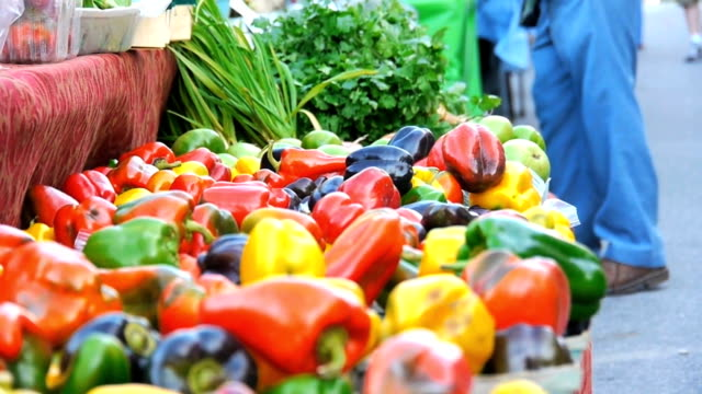 Organic Vegetables at Farmers Market video