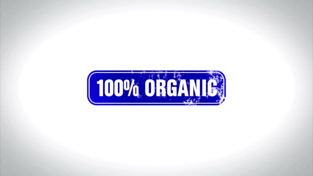 100% Organic Word 3D Animated Wooden Stamp Animation video