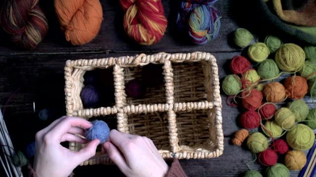 Organizing yarn balls video