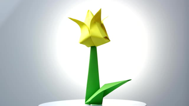 Origami flowers over white background stock video more clips of origami flowers over white background stock video more clips of art 1013405692 istock mightylinksfo