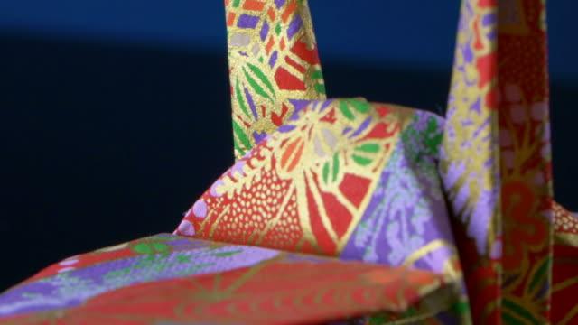4K origami macro shot video