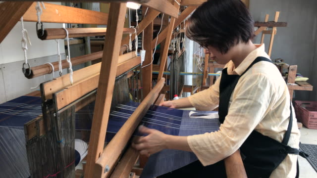 Orimono Textile Shop in Okinawa Japan video