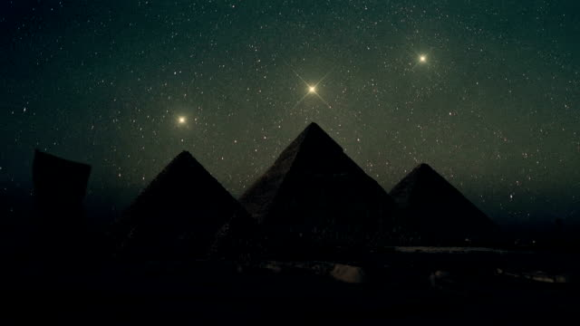 Orion Constellation Stars Aligned Above The Pyramids of Giza video