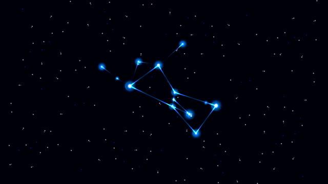 vídeos y material grabado en eventos de stock de orion - constelación