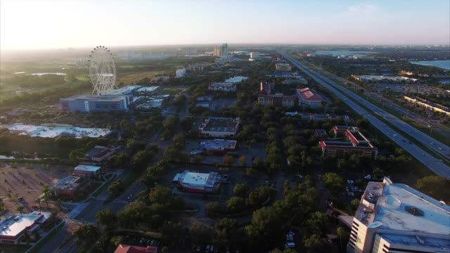 vídeos y material grabado en eventos de stock de vista aérea de orlando florida - noria