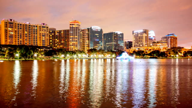 Orlando Lake Eola Twlight Time Lapse