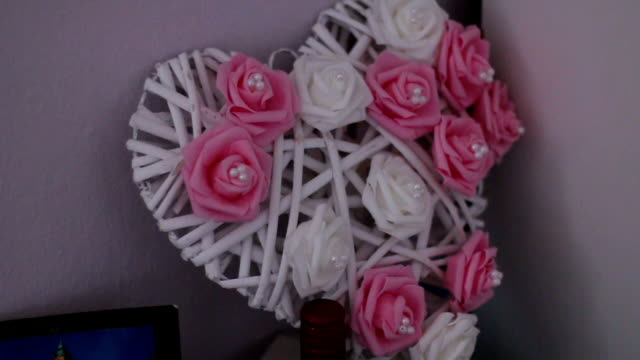 Ornament wedding heart video